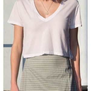Brandy Melville baby pink cropped tee